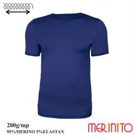 Tricou barbati Merinito 200g 95% lana merinos 5% elastan