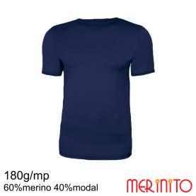 Tricou barbatesc Merinito 180g 60% merino 40% modal