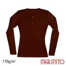 Bluza dama Merinito Buttons 170g 100% lana merinos