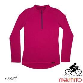 Bluza dama Merinito Cut For Bike 200g 100% lana merinos