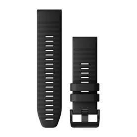 Curea Garmin Quickfit 26 silicon negru striat
