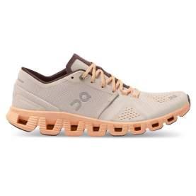 Pantofi alergare dama On Cloud X Silver Almond