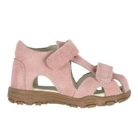 Sandale din piele cu închidere velcro pentru copii - En Fant - Uranus Rose Suede, 21