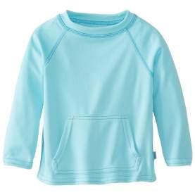 Bluza tehnica filtru UV 50+ Breatheasy Stay Cool - Green Sprouts by iPlay - Aqua , 3T/4T