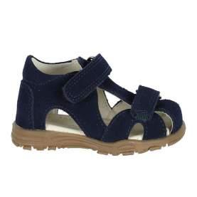 Sandale din piele cu închidere velcro pentru copii - En Fant - Uranus Navy Suede, 22