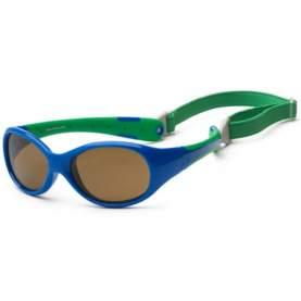 Ochelari de soare pentru copii - Koolsun Flex - Royal Green, 3-6 ani