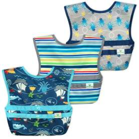 Set 3 baveţele Easy Wear Snap'n Go - Green Sprouts - Pirates