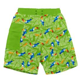 Pantaloni cu filtru UV si slip inclus Ultimate iPlay - Lime Toucan, 12 luni