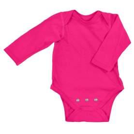 Body din bumbac organic cu extensie inclusa - iPlay - Hot Pink, 0-3 luni