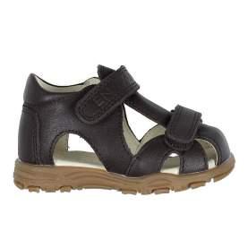 Sandale din piele cu închidere velcro pentru copii - En Fant - Uranus Brown, 21