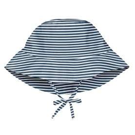 Palarie de soare pentru copii, reglabila - iPlay SPF 50+ - Navy Pinstripe, 0-6 luni