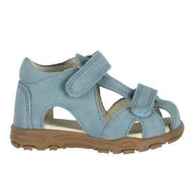 Sandale din piele cu închidere velcro pentru copii - En Fant - Uranus Petrol Suede, 24