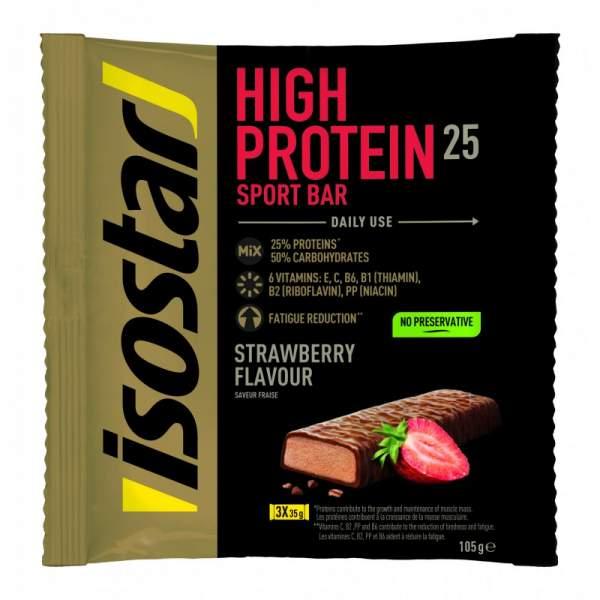 ISOSTAR HIGH PROTEIN BAR CAPSUNI, 3X35 g