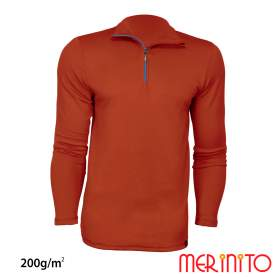 Bluza barbati Merinito Sport Zip 200g lana merinos