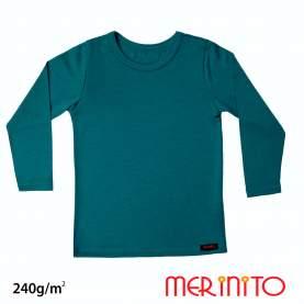 Bluza copii Merinito 240g lana merinos si bambus