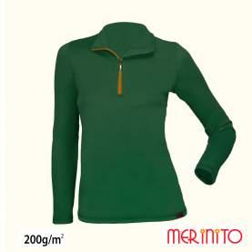 Bluza dama Merinito Sport Zip 200g 100% lana merinos