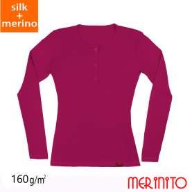 Bluza dama Merinito Buttons 70% matase 30% lana merinos
